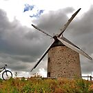 The bike and the windmill by Adri  Padmos