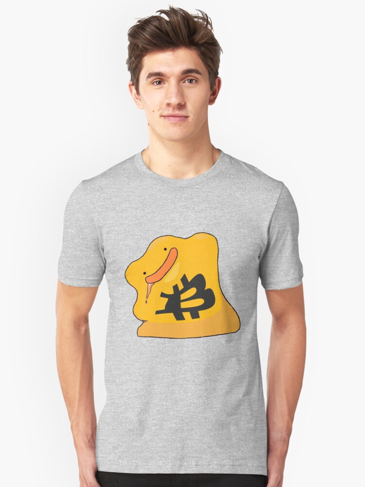 Bitcoin Ditto Unisex T-Shirt Front