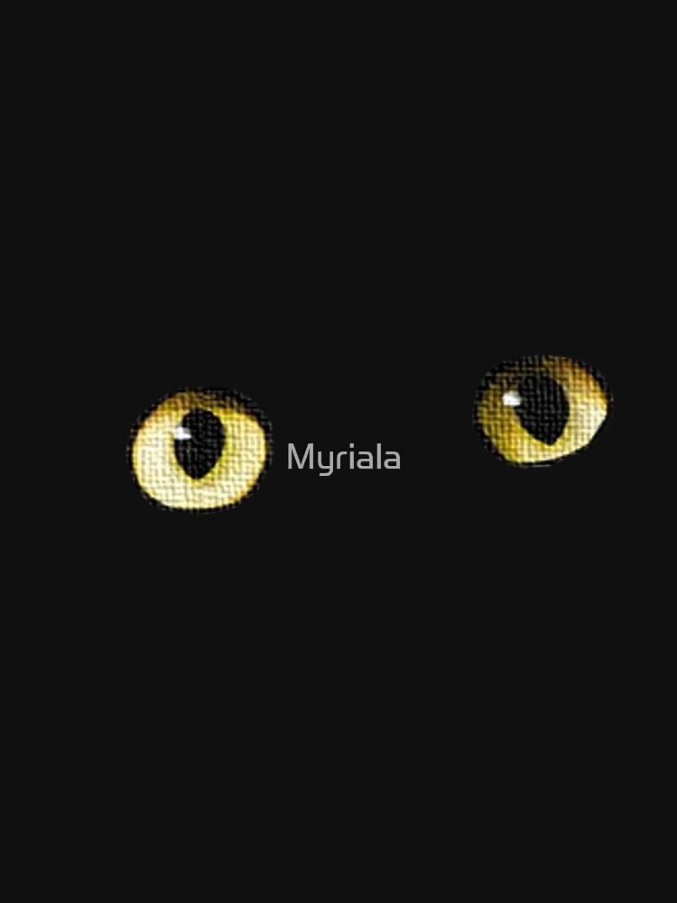 Mysterious cat eyes - eye-catcher by Myriala