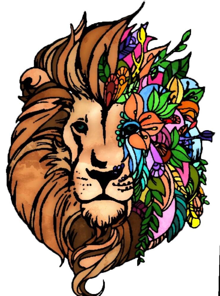 Flower Lion by elliepelham