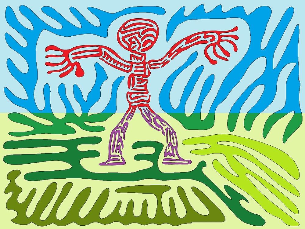 a maze man by DaveDowling