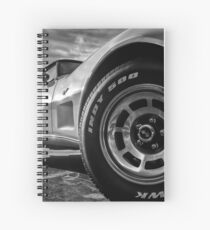 Indy 500 Black and White Spiral Notebook