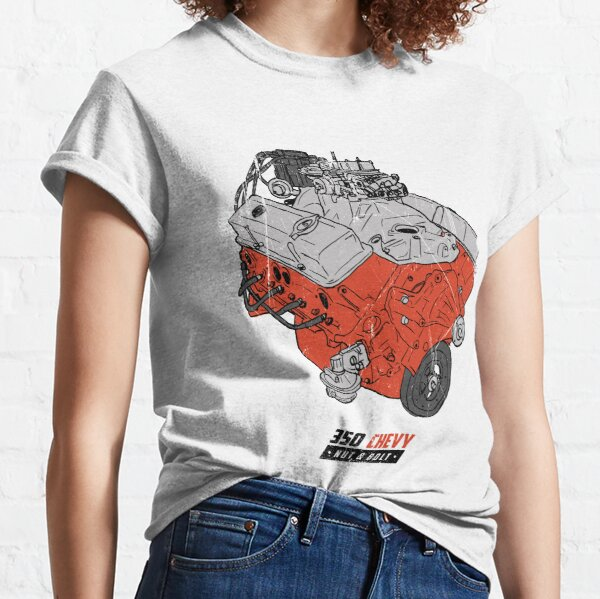 Chevrolet Chevy 350 V8 GM Muscle Car Engine Classic T-Shirt