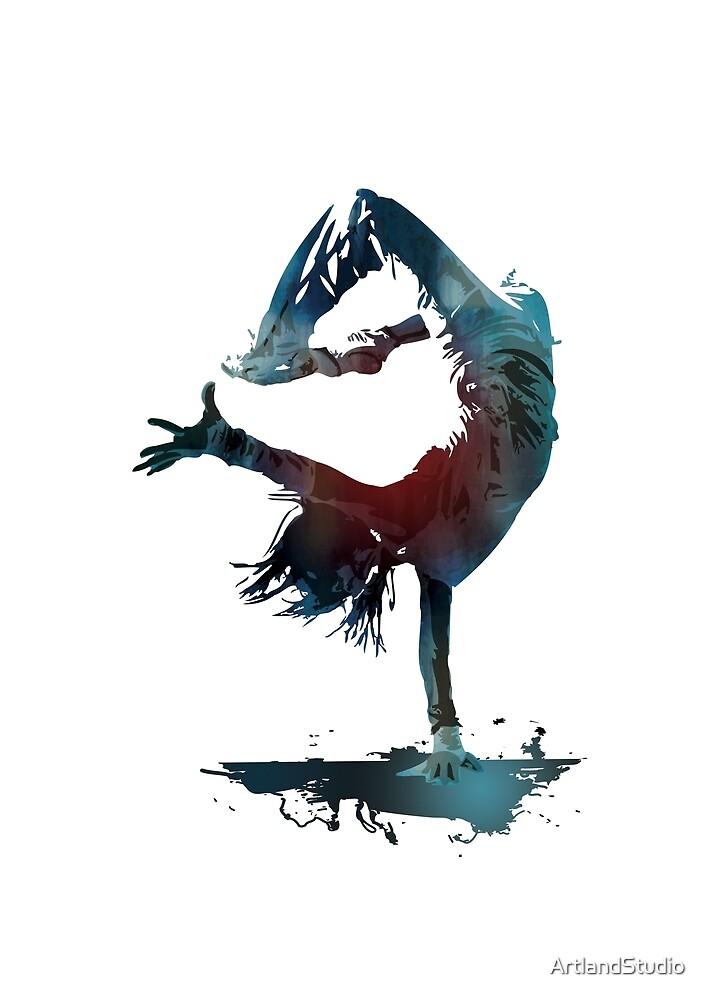 Hip Hop dancer, Dance Art by ArtlandStudio