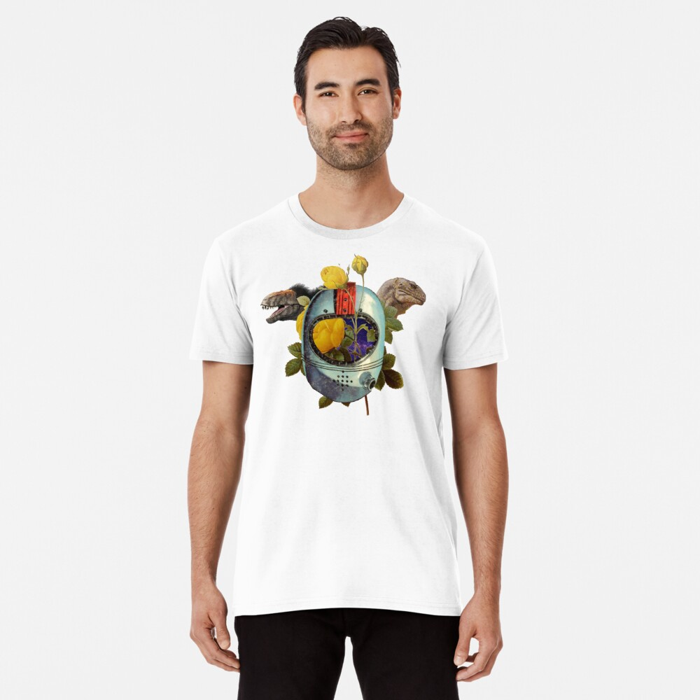 Space Dino  Men's Premium T-Shirt Front