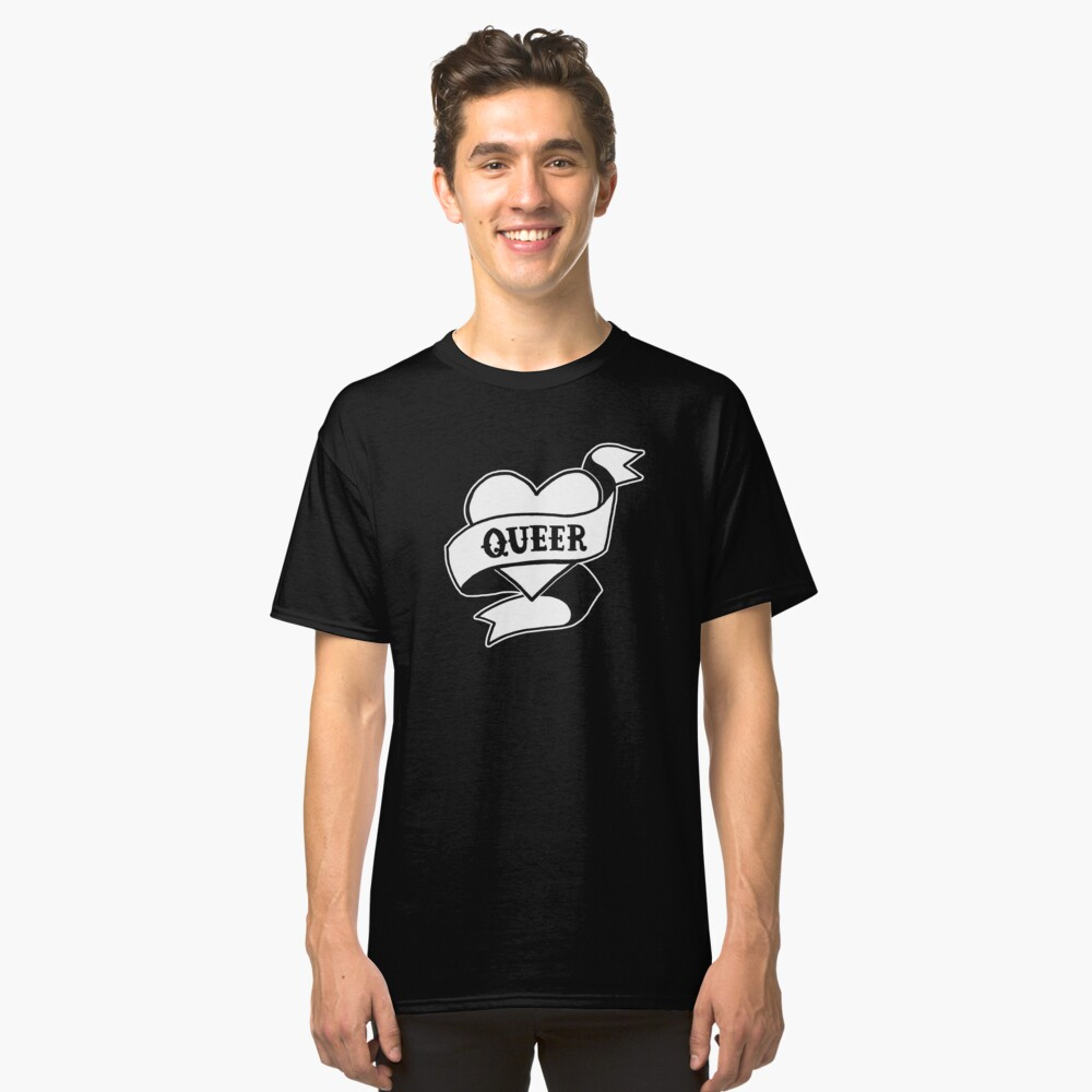 Queer Heart Classic T-Shirt Front