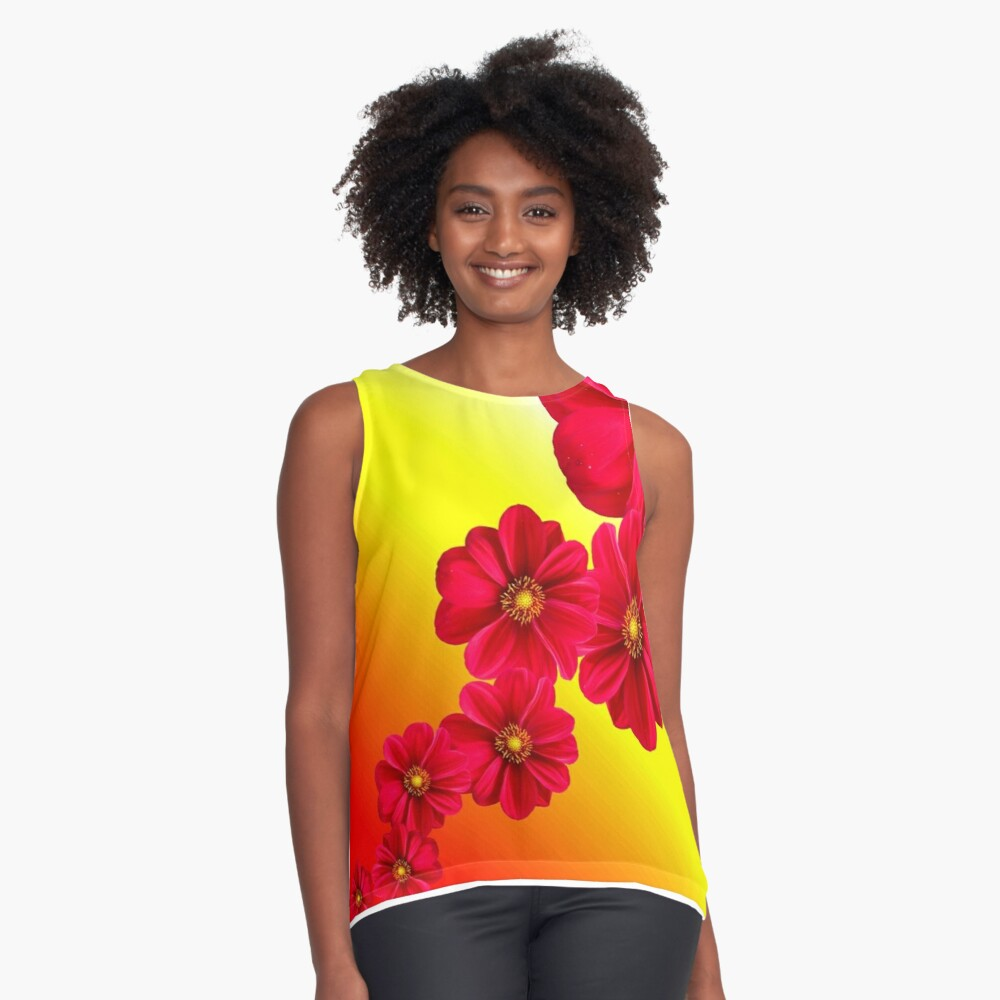 Flower Bomb Contrast Tank Front