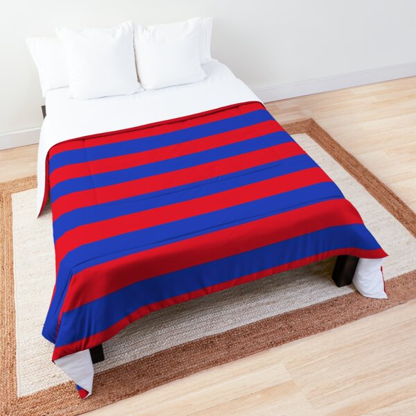 Blue and Red Horizontal Stripes  Comforter