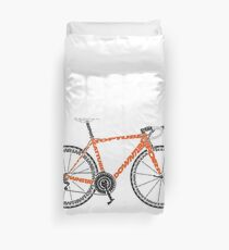 Typographic Anatomy of a Road Bike Duvet Cover