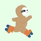 Cute Sloth Skating by artshipper