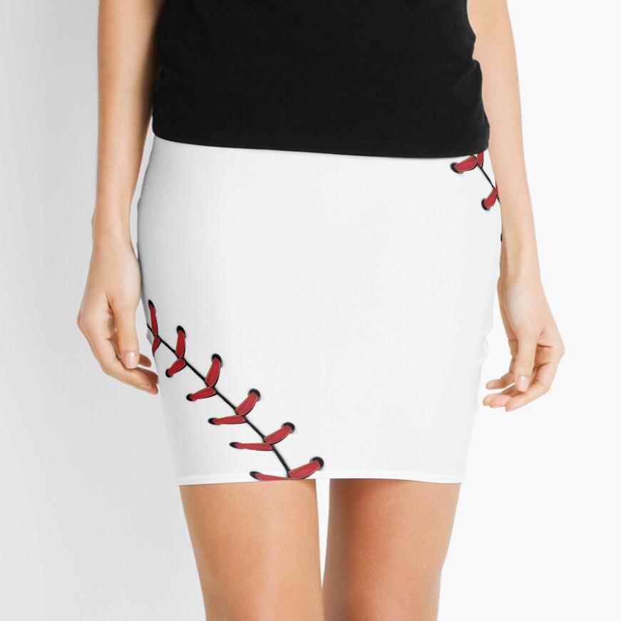 Baseball Lace stitches Mini Skirt