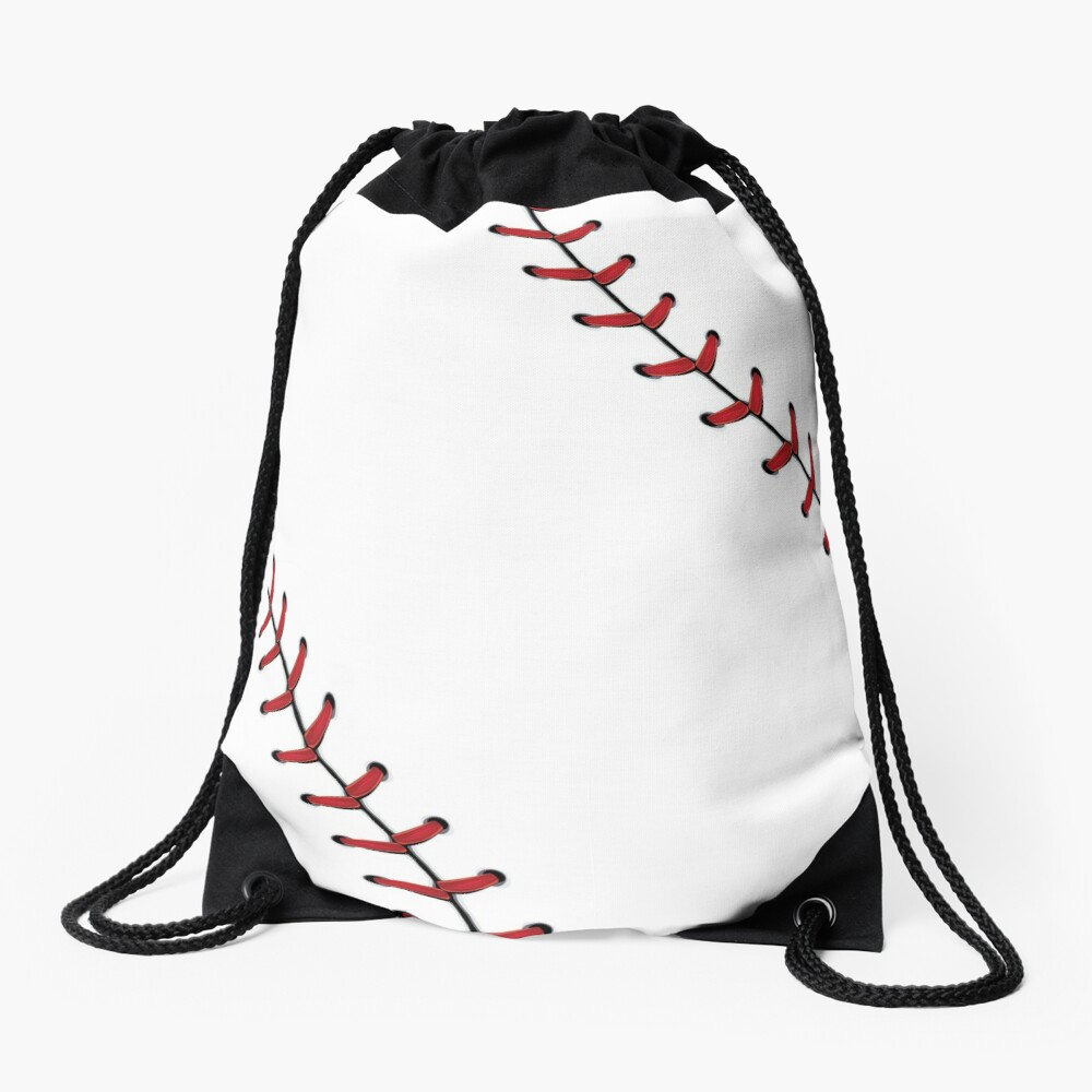 Baseball Lace Background 5 Drawstring Bag