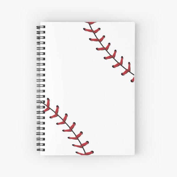 Baseball Lace stitches Spiral Notebook