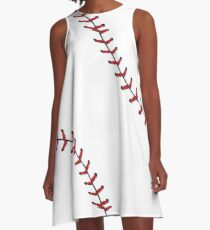 Baseball Lace Background 5 A-Line Dress