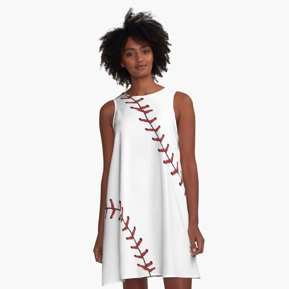 Baseball Lace stitches A-Line Dress