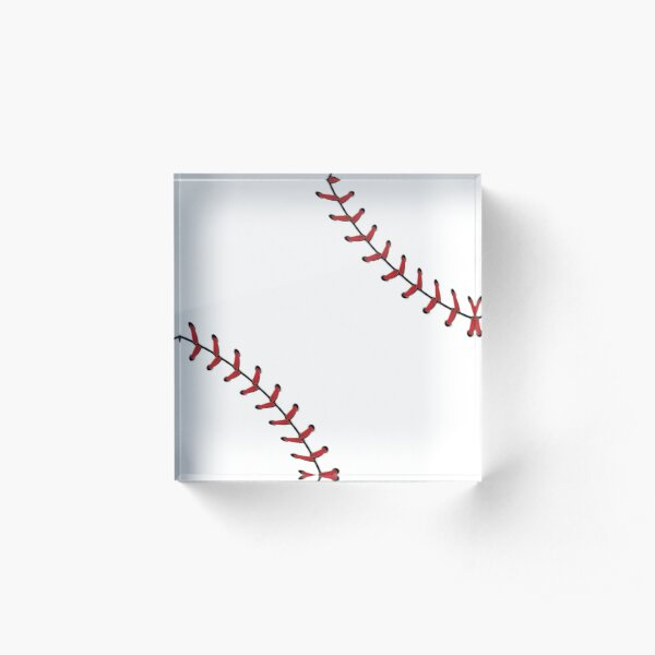 Baseball Lace stitches Acrylic Block