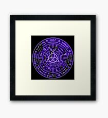 Celtic Pagan Year Wheel Calendar Framed Print