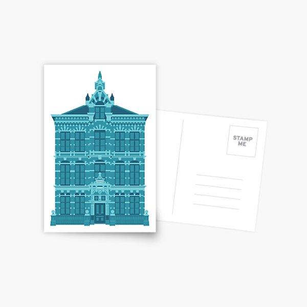 Blue house from Leiden Holland Postcard