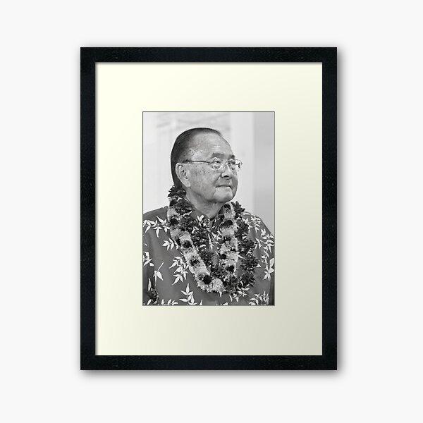 Senator Daniel Inouye Framed Art Print