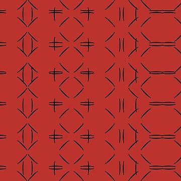 Simple geometric pattern 02 in red by MaijaR