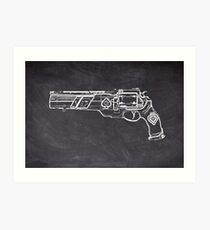 Chalk Poker Gun Art Print