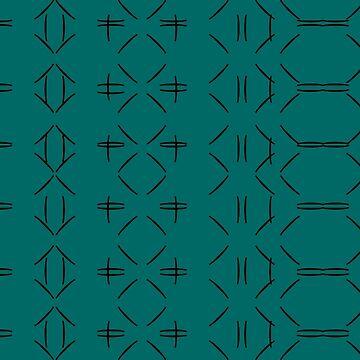 Simple geometric pattern 02 in green by MaijaR