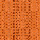 Simple geometric pattern 02 in orange by MaijaR