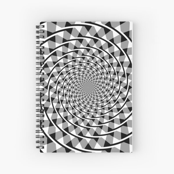 Black and white Double Spiral Spiral Notebook