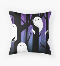 Ghosts in the Forest Throw Pillow