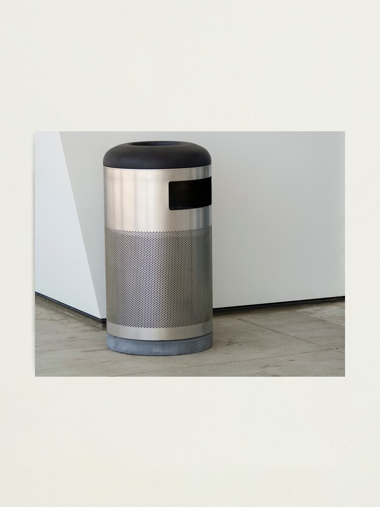 Alternate view of Airport Trash Can Photographic Print