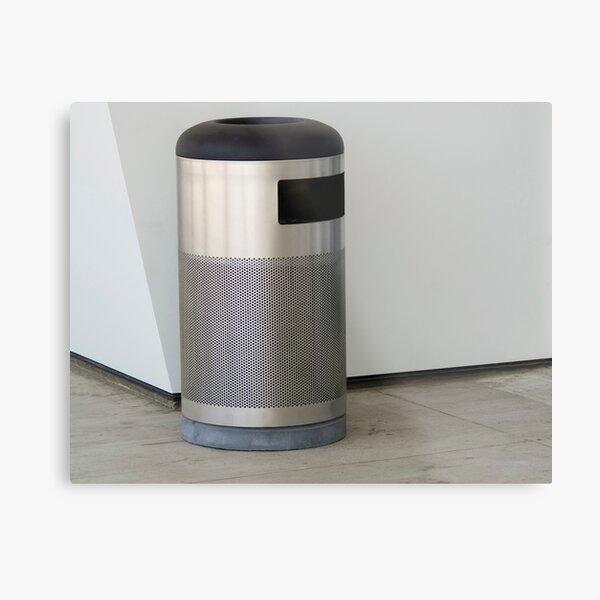 Airport Trash Can Metal Print