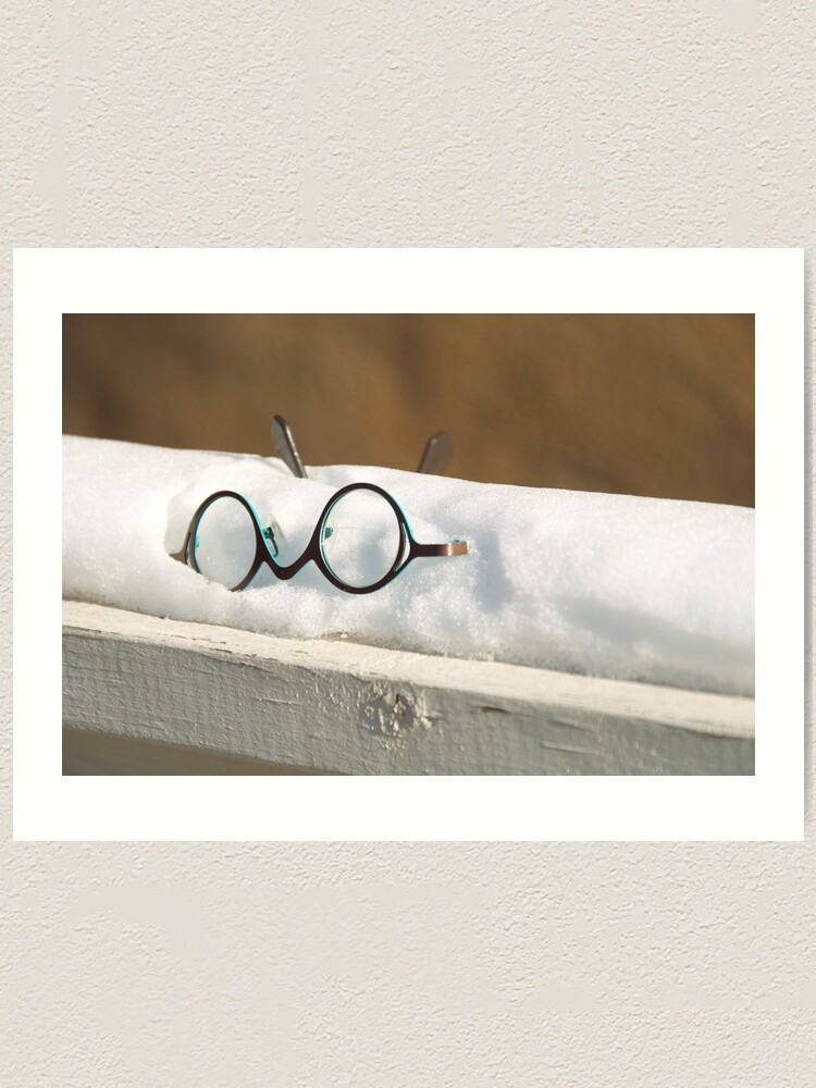Alternate view of Glasses in the Snow Art Print