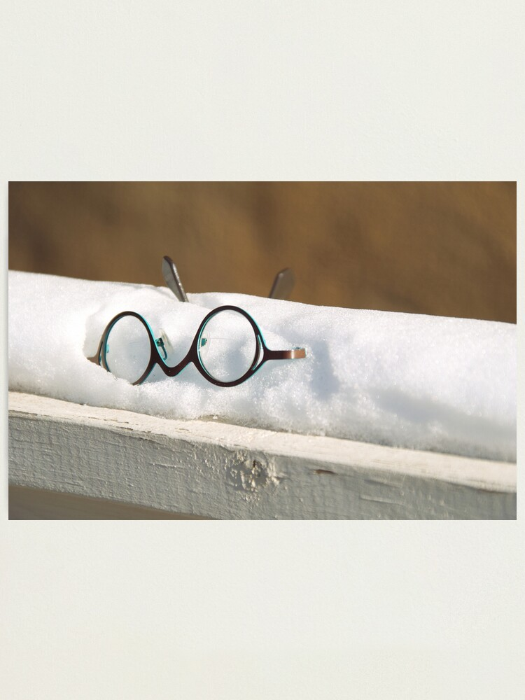 Alternate view of Glasses in the Snow Photographic Print