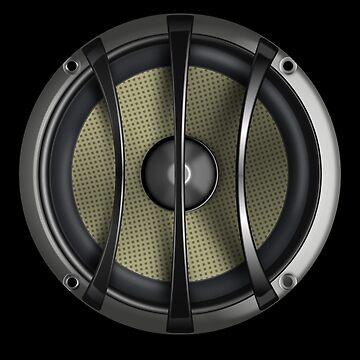 Speaker Phone Cover - Bass Subwoofer T-Shirt Sticker  by deanworld