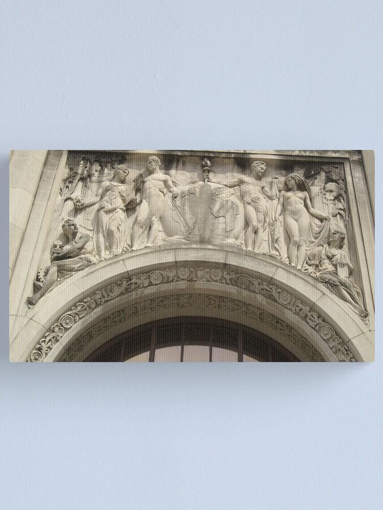 Alternate view of Retro Stone Facade Canvas Print
