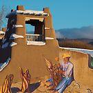Adobe Art Meets Taos Skies by redwave