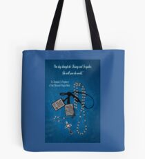 Rosary and Scapular prophesy Tote Bag