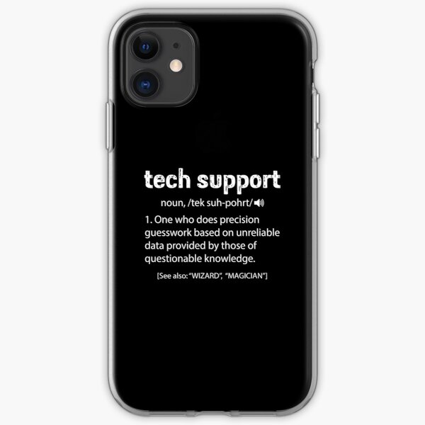 Tech Support Definition iPhone Soft Case