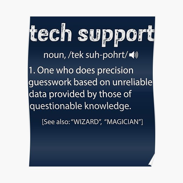 Tech Support Definition Poster