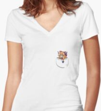 Touhou - Mini Pocket Suika Women's Fitted V-Neck T-Shirt