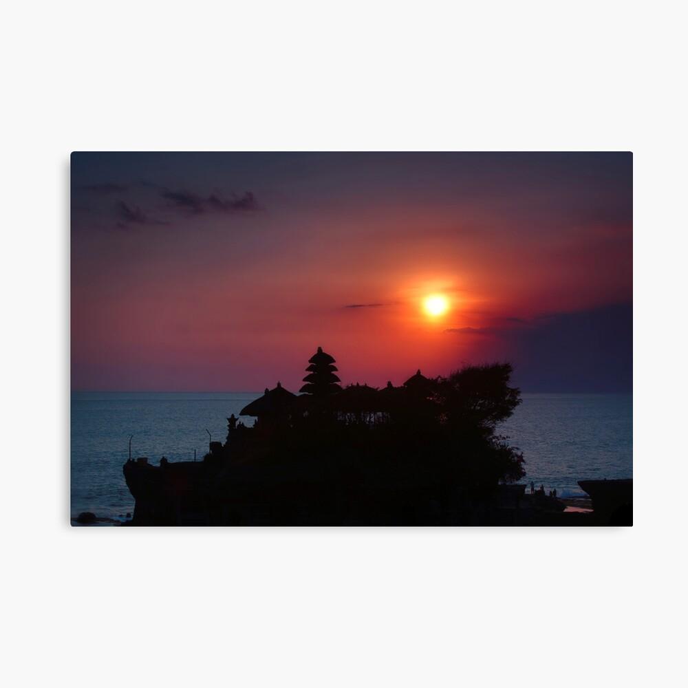 Indonesia  4 - Tanah Lot  sunset Canvas Print