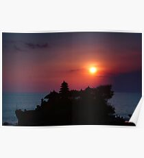 Indonesia  4 - Tanah Lot  sunset Poster