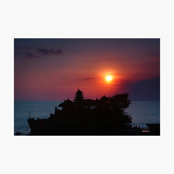 Indonesia  4 - Tanah Lot  sunset Photographic Print