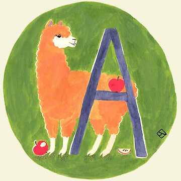 A is for Alpaca by lillylotus