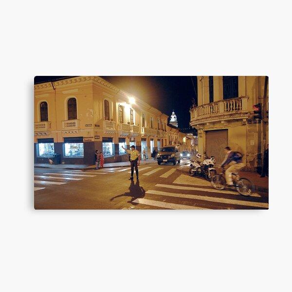 Conducting Traffic on Venezuela St. Canvas Print