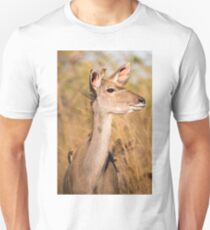 Kudu and Red Billed Oxpeckers, South Africa Unisex T-Shirt