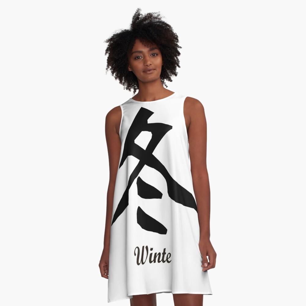 Chinesisch Winter A-Linien Kleid