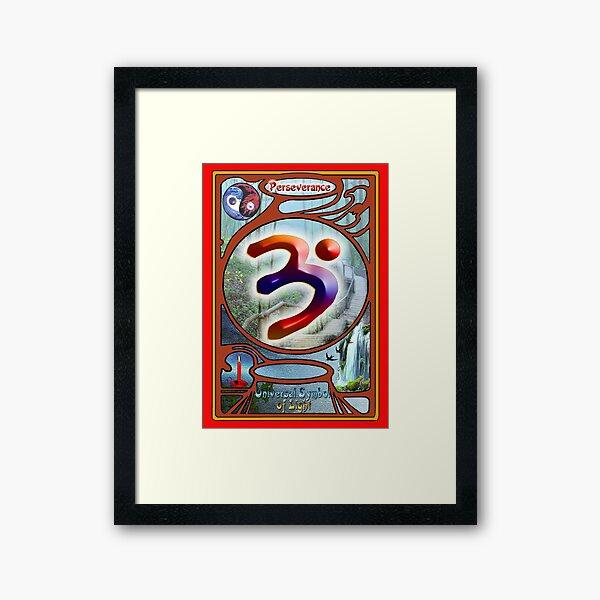 The Language of Light Symbol of Perseverance.  Framed Art Print