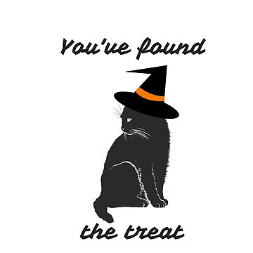 Black Halloween cat wearing witch's hat by DAscroft