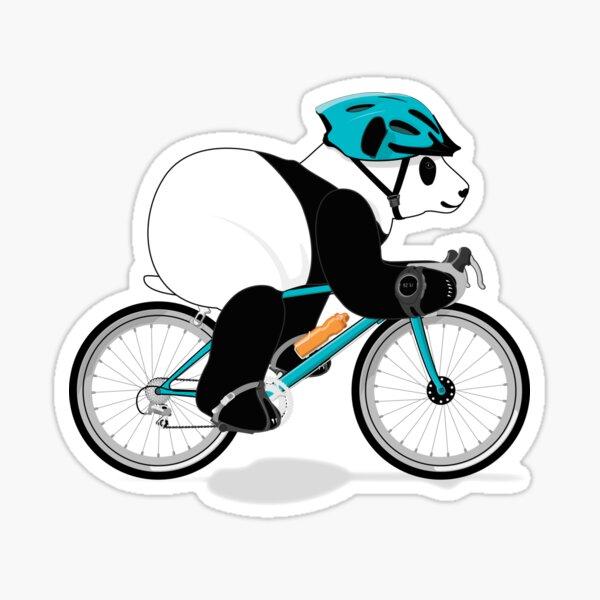 Cycling Panda Sticker